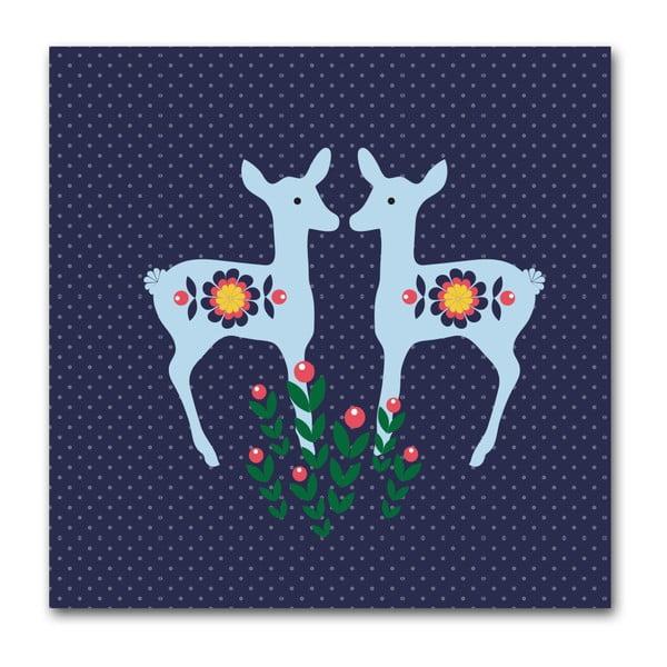 Plakát Srnky modré