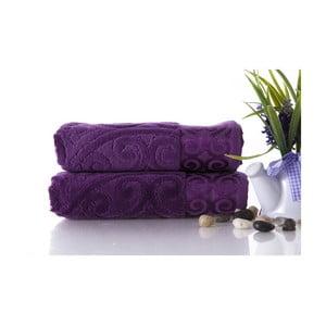 Set dvou ručníků Hanzade Purple, 50x90 cm