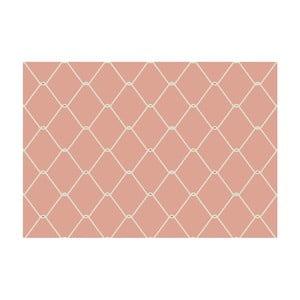 Růžová předložka Zerbelli Misma, 75 x 52 cm