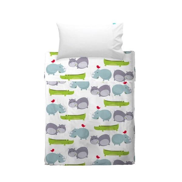 Dětský povlak na polštář a přehoz Mr. Fox Hippo, 120x180 cm