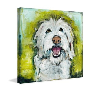 Obraz Marmont Hill Smiley Dog, 45x45cm