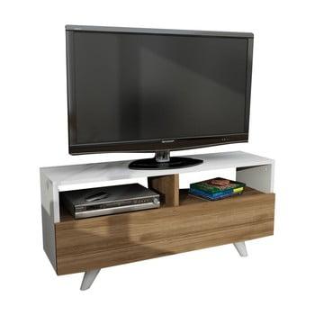 Masă TV cu aspect de lemn de nuc Novella de la Furny Home