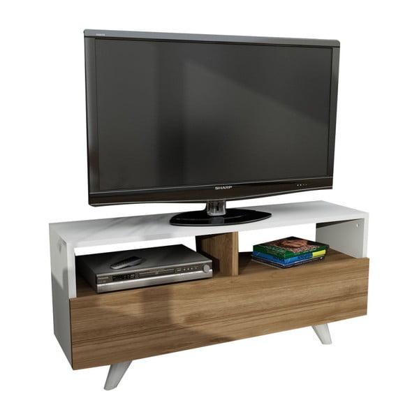Masă TV cu aspect de lemn de nuc Novella