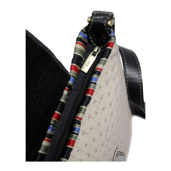 Prošívaná kabelka Goddess s vyšívanou klapkou, béžová