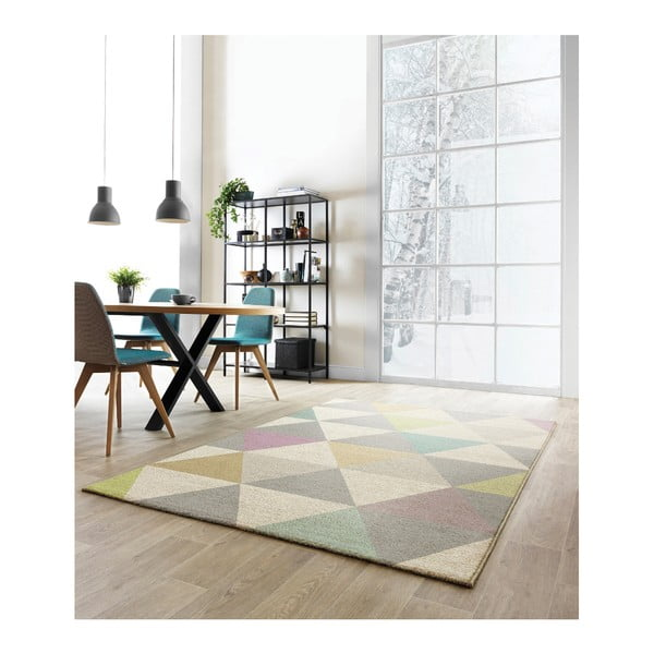 Koberec Asiatic Carpets Focus Triangles Multi, 120x170 cm