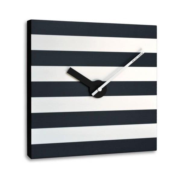 Nástěnné hodiny Black and White