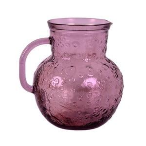 Růžový džbán z recyklovaného skla EgoDekorFlora, 2,3l