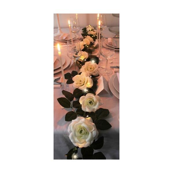 Svatební girlanda s LED světly Roses, 3,6 m