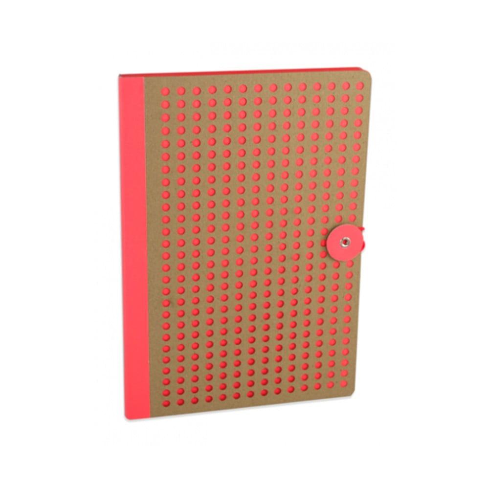 Oranžový zápisník Portico Designs Laser, 160stránek