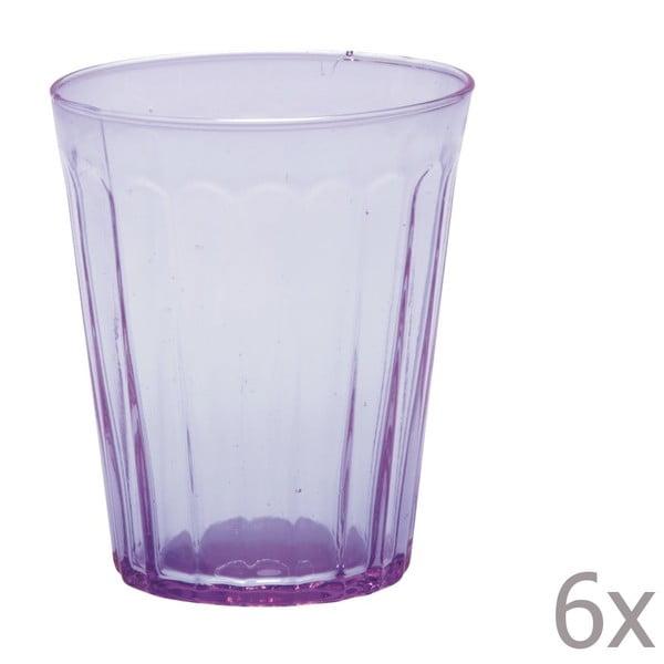 Sada 6 sklenic na vodu Lucca Lila, 450 ml
