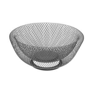 Šedá kovová mísa na ovoce Versa Chromed Fruit Basket
