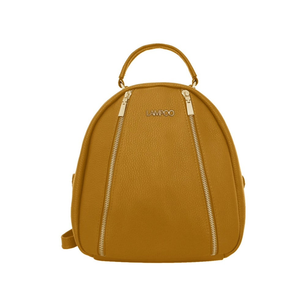 Hnědý kožený batoh Lampoo Kurro