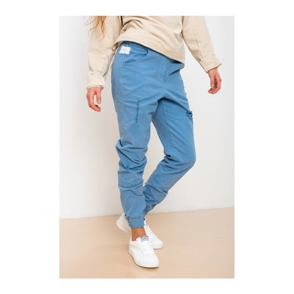 Modré kalhoty z bavlny Lull Loungewear Misguided, vel. M