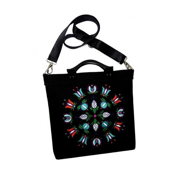 Plstěná vyšívaná taška Kašuby, odepínatelný popruh