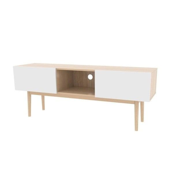 Biała komoda pod TV Actona Bergen Pure, 58x150x40 cm