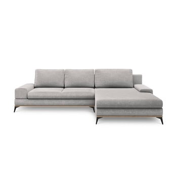 Canapea extensibilă de colț Windsor & Co Sofas Planet, pe partea dreaptă, gri deschis de la Windsor & Co Sofas
