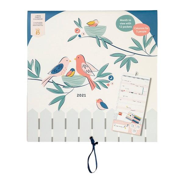 Rodinný měsíční kalendář Busy B, 13 stran