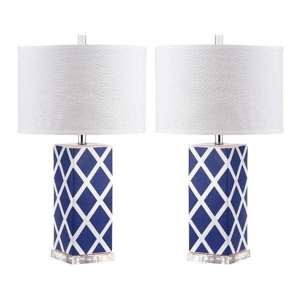 Sada 2 stolních lamp Garden Lattice Blue
