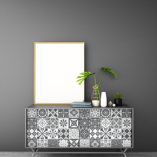 Zestaw 60 naklejek na meble Ambiance Tiles Stickers For Furniture Willema, 15x15 cm