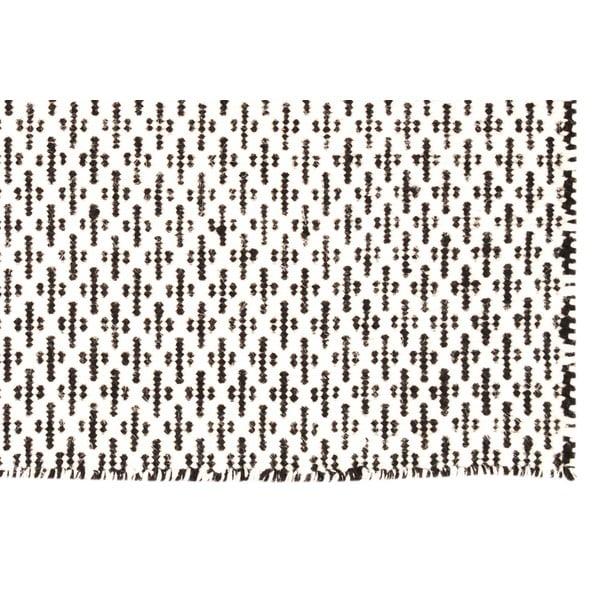 Ručně tkaný koberec Brown Cross Kilim, 160x230 cm