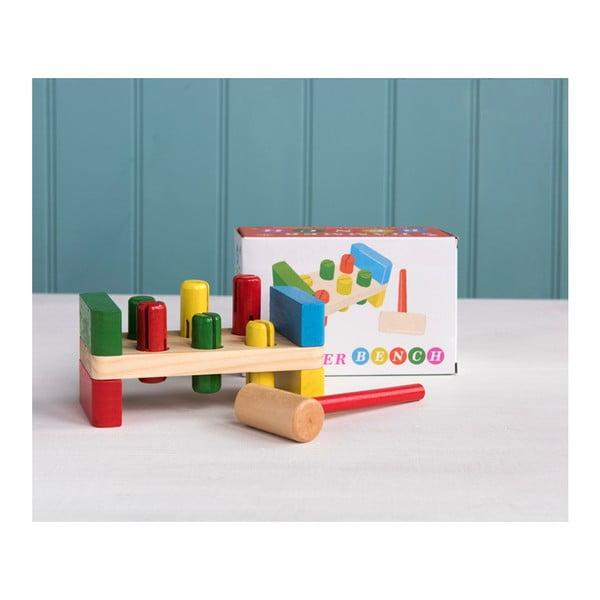 Dětská dřevěná hra s kladívkem Rex London Hammer Bench