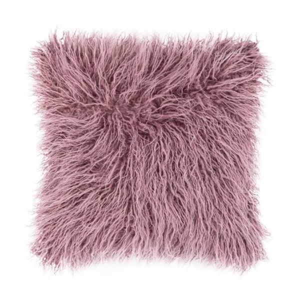 Mohair rózsaszín díszpárna, 45x45cm - Tiseco Home Studio