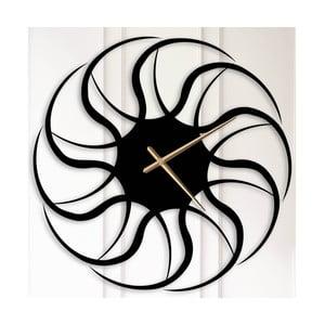 Černé kovové nástěnné hodiny Beatrice