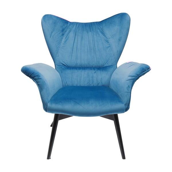 Modré křeslo Kare Design Wallstreet