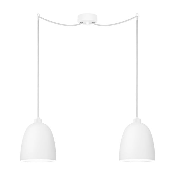 Bílé dvojité závěsné svítidlo Sotto Luce Awa