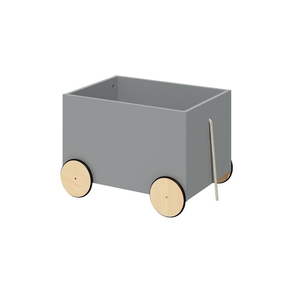 Šedý pojízdný box na hračky BELLAMY Lotta