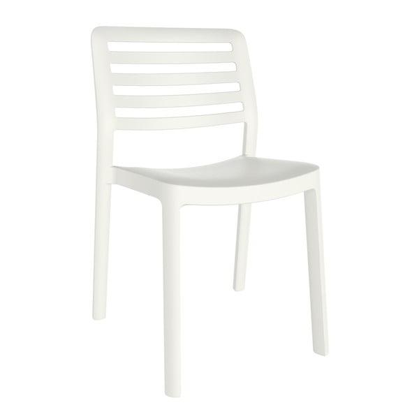Sada 4 bílých zahradních židlí Resol Wind