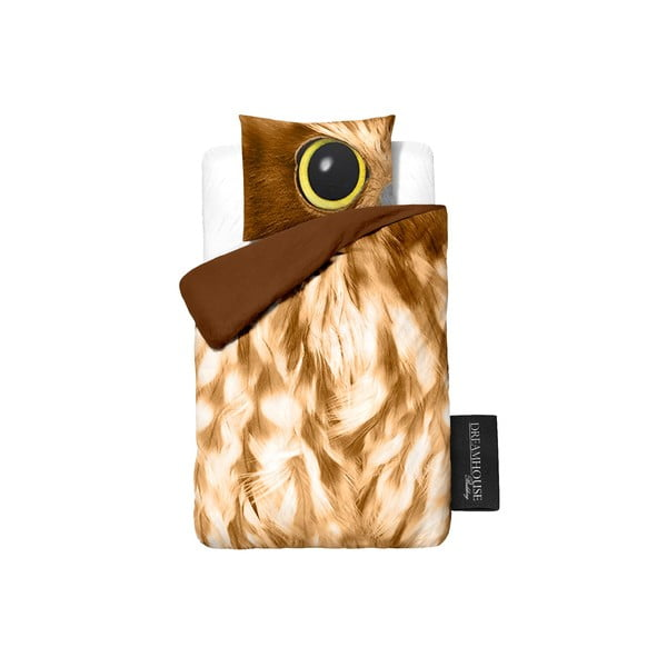 Povlečení Owl Look Taupe, 140x200cm
