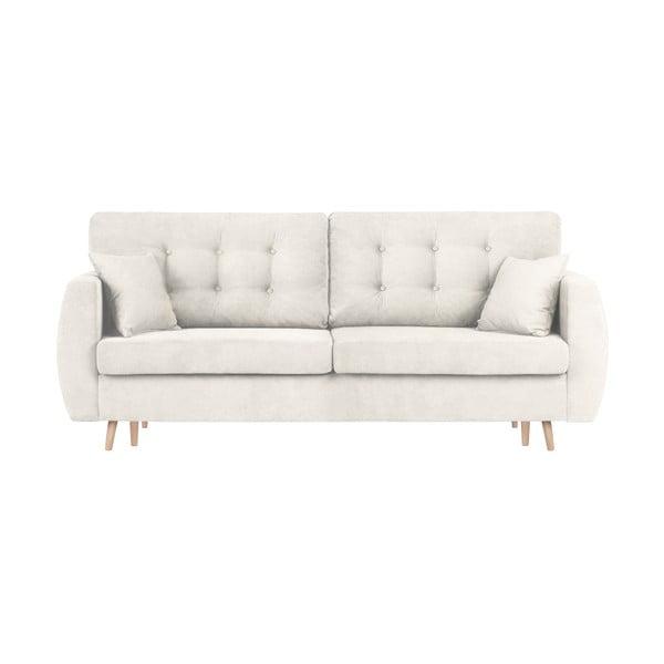 Trojmístná rozkládací pohovka s úložným prostorem ve stříbrné barvě Cosmopolitan Design Amsterdam