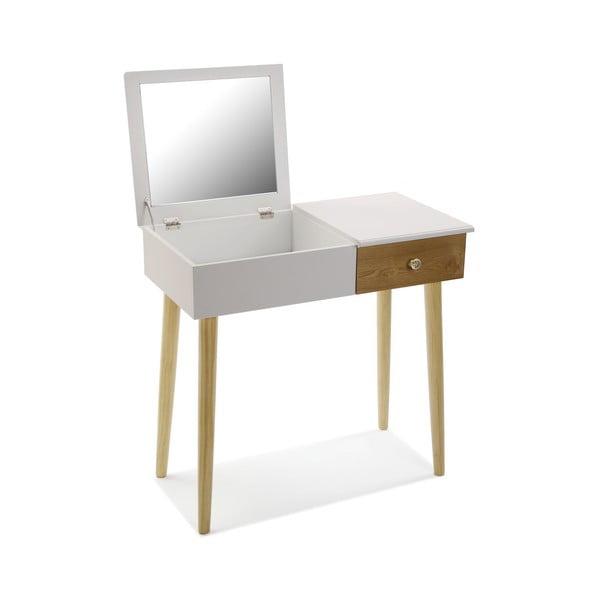 Biely toaletný stolík Versa Meghan