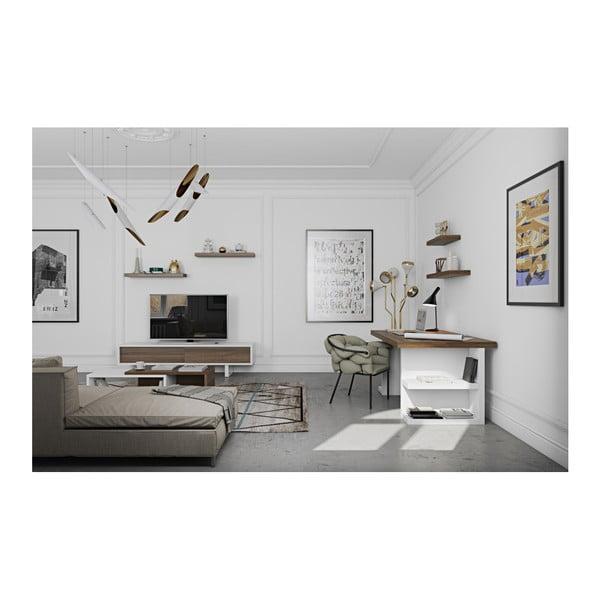 Hnědý pracovní stůl TemaHome Multi, délka 180 cm