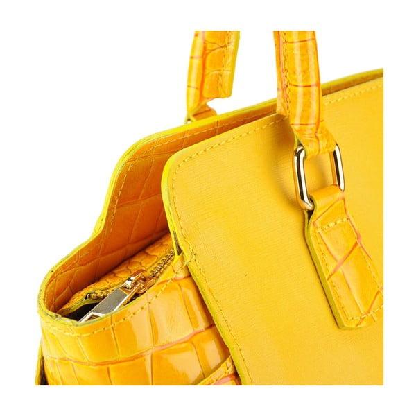 Kožená kabelka Marta Yellow