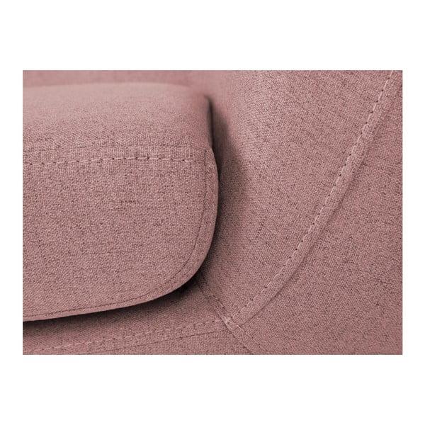Růžové křeslo se světlými nohami Mazzini Sofas Sicile