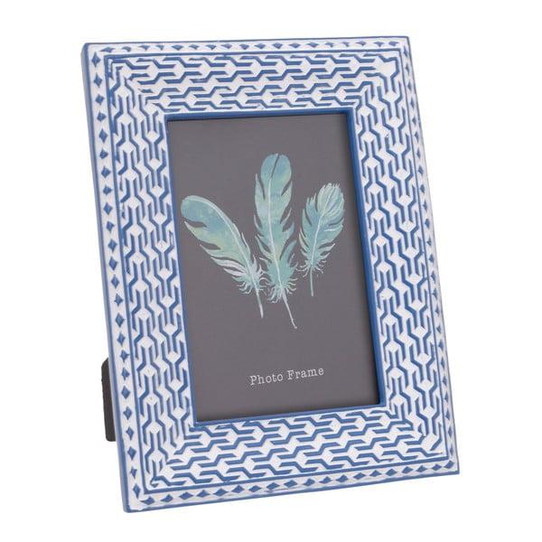 Modrý rámeček na fotku 13x18cm InArt Boho