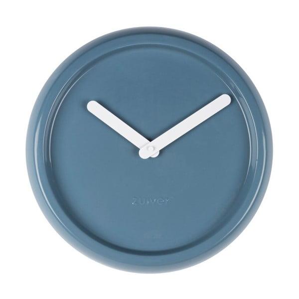 Modré nástěnné keramické hodiny Zuiver Ceramic