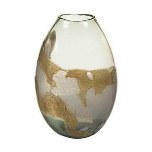 Ručně vyráběná křišťálová váza Santiago Pons Earth, výška28cm