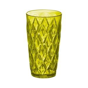 Olivově zelená plastová sklenice Koziol, 450 ml