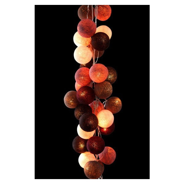 Světelný řetěz Mocha Amore, 50 ks světýlek