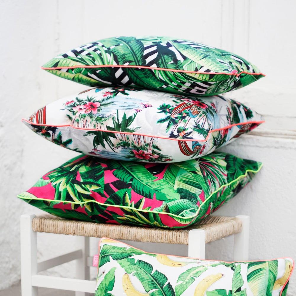 bavln n povlak na pol t hf living pink palm 50 x 50 cm bonami. Black Bedroom Furniture Sets. Home Design Ideas