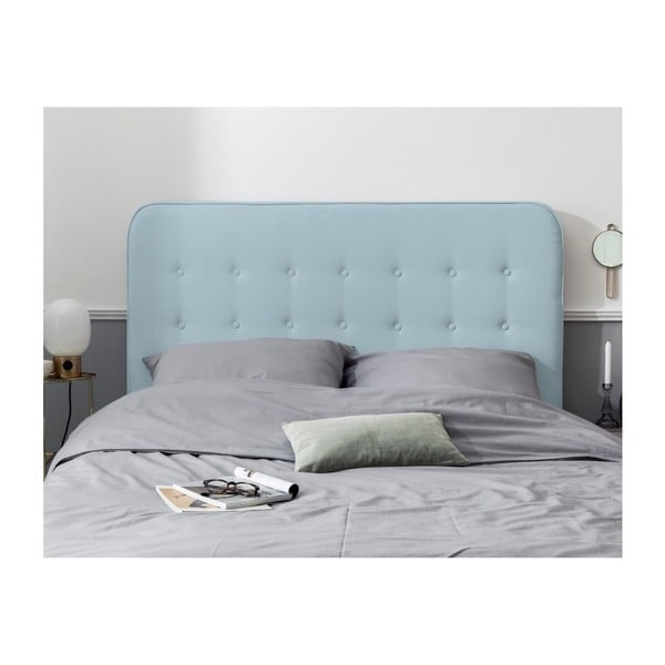 Pastelově modré čelo postele HARPER MAISON Lana, 180 x 120 cm