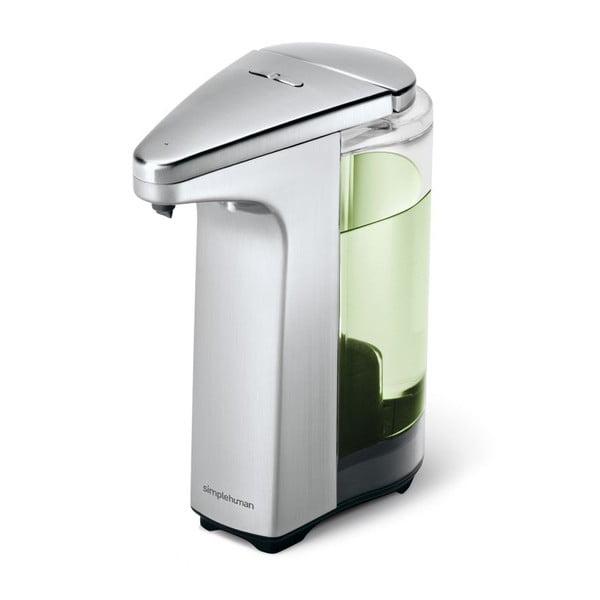 Stříbrný bezdotykový dávkovač mýdla simplehuman Lisa