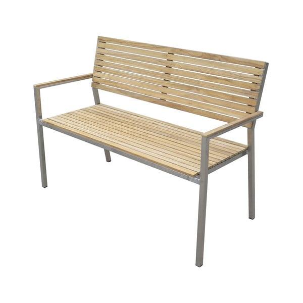 Záhradná 2-miestna lavica s oceľovou konštrukciou ADDU Denver