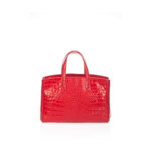 Červená kožená kabelka Lisa Minardi Brassa