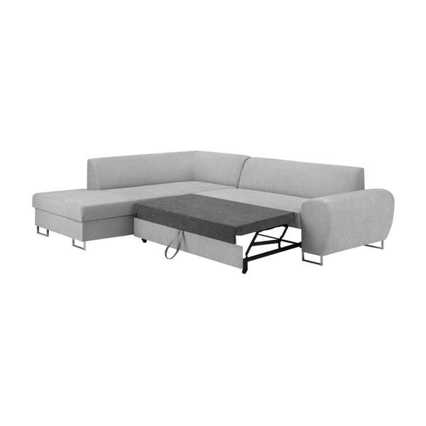 Šedá rohová rozkládací pohovka s úložným prostorem Kooko Home XL Left Corner Sofa
