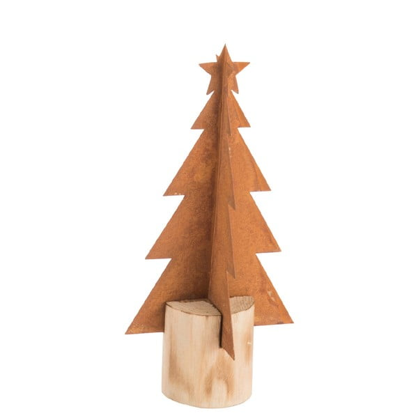 Vánoční kovová dekorace J-Line Tree, výška23cm