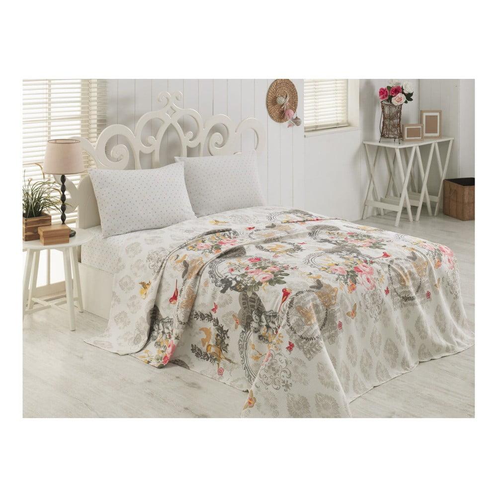 Bavlněný lehký přehoz přes postel Mala, 160 x 230 cm